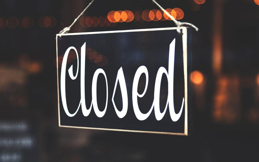 Samstag Nachmittag 28. August geschlossen